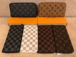 Zippy Wallet DİK para, kartları ve paralar ünlü tasarım erkek deri çanta kart sahibinin uzun iş taşımak en şık yolu
