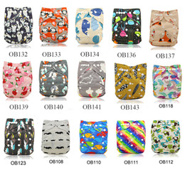 One Size Diaper Australia - 20pcs Lot Reusable Baby Diapers 2019 Brand Baby Cloth Diaper Cover Washable Nappy Changing Infant Pants One Size Adjustable