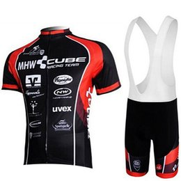 Bicycle Sales Australia - 2019 CUBE Hot Sale Cycling Jersey Set Summer MTB Bike Cycling Clothing Racing Bicycle Sportwear Clothes Cycling Set