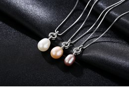 necklaces pendants Australia - hot S925 Sterling Silver Necklace Pendant Natural Pearl Romantic Item LBM15