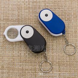 Loupe Wholesalers Australia - Fashin Mini Pocket Folding LED Light 15X Loupe Magnifier Magnifying Glass with Keychain D0534
