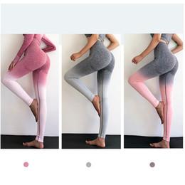 $enCountryForm.capitalKeyWord Australia - Trend Yoga Fitness Gradual Pants Womens Seamless Gradual Color Skinny Pant Women Capris Slim Sports Pants