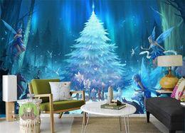 Korean Cartoon Wallpaper Australia - Custom 3D Photo Wallpaper Little Elf Cartoon Forest Fairy Tale World Children's Room Bedroom Non-woven Wallpaper Mural Decor