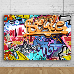 graffiti backdrops NZ - Dream 7x5ft Colorful Graffiti Wall Backdrop Hiphop Street Art Photography Background for Photographer Children Photo Shoot Studio Prop