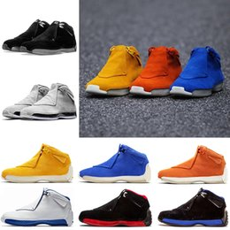 $enCountryForm.capitalKeyWord Australia - 18s New Yellow Suede Black Blue Royal White Metallic Silver Mens Basketball Shoes Classic 18s Xviii Mid Athletic Sport Sneakers