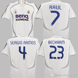 ronaldo real madrid jersey Australia - 06 07 Real Madrid Soccer Jerseys Cannavaro Raul Ronaldo Marcelo Guti Higuain Beckham Vintage 2006 2007 Real Madrid Football Shirts