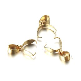$enCountryForm.capitalKeyWord Australia - Stainless Steel Pendant Crimp For Hole Clasp Melon Button Connectors for DIY Jewelry Making Findings wholesale
