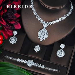 $enCountryForm.capitalKeyWord NZ - HIBRIDE New Full Cubic Zirconia Big Pendientes Jewelry Set For Women Bridal Wedding Accessories parure bijoux femme N-706