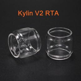 Accessory Glasses Australia - Fit Vandyvape Kylin V2 RTA 5ml replacement bubble glass tube tank free shipping vape blub glass tank ecig accessory
