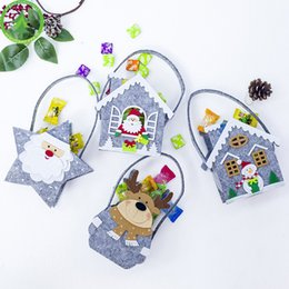fabric gift bag christmas NZ - New Christmas Decorations Mini Creative High-quality Fabrics Christmas Cartoon Candy Gift Bag decorations