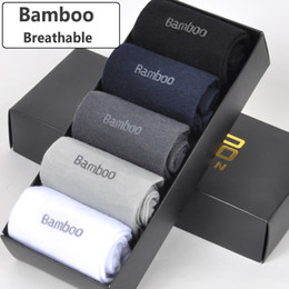 $enCountryForm.capitalKeyWord NZ - Brand New Men Bamboo Fiber Socks High Quality Casual Breatheable Anti-bacterial Man Long Sock 5pairs   Lot T219053101