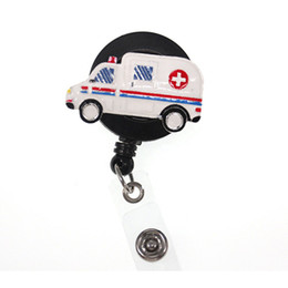 water crystals for plants UK - 10pcs lot Medical New Medical Ambulance Retractable ID Badge Holders For Hospital Stuff