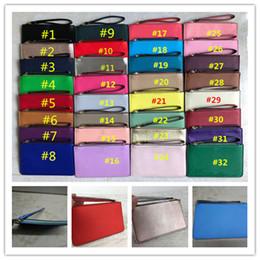 Card ClutCh online shopping - KS PU Leather Wallets With Lanyard Wristlet Zipper Purse Clutch Bags Women Credit Card Cash Coin Pouch Cosmetics Bags Fashion Mini Handbag