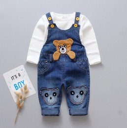 3t bib online shopping - 2019 spring and autumn new children s suit denim bib trousers two piece casual suspenders boys and girls
