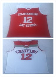 $enCountryForm.capitalKeyWord NZ - Cheap wholesale 12 Zion Willamson Spartanburg Griffins day school Basketball Jersey Stitched S-XXL