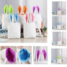 $enCountryForm.capitalKeyWord Australia - 4 color creative Easter rabbit ear bag bunny cartoon bunny bucket gift bag shoulder canvas bag party decoration bags K0100