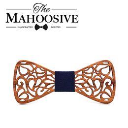 $enCountryForm.capitalKeyWord Australia - Mahoosive New Floral Wood Bow Ties for Men Bowtie Hollow Butterflies Wedding suit wooden bowtie Shirt krawatte Bowknots Slim tie C19011001