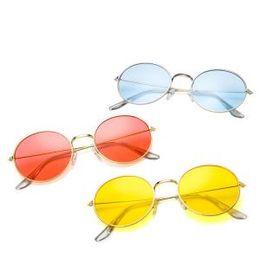 f03e084a77885 Retro Classic Round Jelly Sunglasses Vintage Shades UV400 Beach Summer Lenses  Metal Circle Eyewear Glasses LLA207