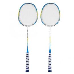 Fiber Pairs Australia - 1 Pair Carbon Fiber Badminton Racket Set Lightweight Training Racquets With Bag Racquet Sports Accessories