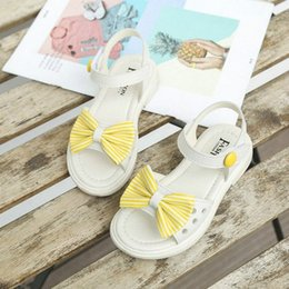 cute heels kids 2020 - Sweet Fashion New Bowtie Girls Sandals Children Casual Comfortable Beach Shoes Cute Kids Princess Soft Bottom Shoe Shoes