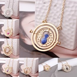 vintage style pendant necklace Canada - Free DHL Hourglass Pendant Necklace Vintage Creative Time Converter 360 Degree Rotatable Chains Charm Necklace Jewelry Gift 8 Styles O131FZ