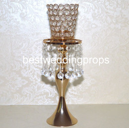 $enCountryForm.capitalKeyWord Australia - New style Tall gold metal trumpet flower vase for wedding centerpiece decorating decor752