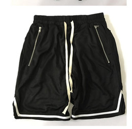 Discount mens lace up shorts - Summer Relaxed Streetwear Hip hop Lace up Loose for Men Short Mens Stretch Short sweat Jogger shorts