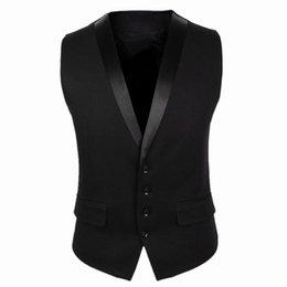 8a88a6f1835 New Arrivals Dress Vests For Men Black Gray Slim Fit Mens Sleeveless Gilet  V Collar Male Formal Wedding Waistcoat CH752
