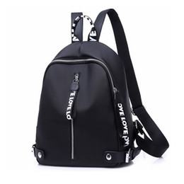 $enCountryForm.capitalKeyWord Australia - 2019 Casual Backpack Women Black Oxford School Bags For Teenagers Girls Waterproof Nylon High Quality Travel Backpack Female Y19061102