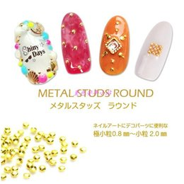 japan studs UK - 500pcs pack Japan Korea Nail Art Alloy Rivets Studs 0.8mm-2mm Semicircle Round Metal Jewelry Accessories for Women Nail DIY