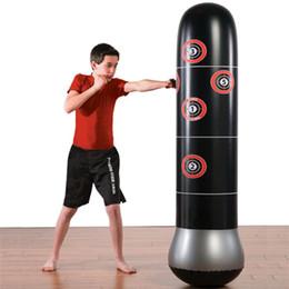 Vente en gros Sac de boxe gonflable Stress Stress Pointing Tower Sac Boxe Standing Eau Base Formation Pressure Soulignez Bond Sandbag avec Pum