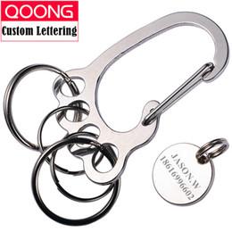 $enCountryForm.capitalKeyWord NZ - holder for keys QOONG 2018 Fashion Big Feet Key Chain Silver Metal Car Key Ring Holder for Men Women Waist Hanged Keyholder