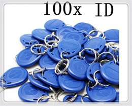 Access Key Fobs Australia - free shipping 100pcs blue color blue RFID key fobs 125KHz free shipping proximity ABS key tags for access control TK4100 EM 4100 chip