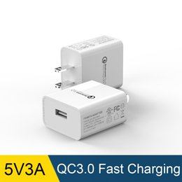 5v 3a charger adapter 2019 - Portable 5V 3A USB Wall Charger One Port QC3.0 Quick Charging Block Home Travel Plug Power Adapter Replacement! discount