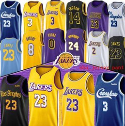 Lebron goLd online shopping - 2019 Men basketball Los Angeles Lakers Lebron James Davis Kobe Bryant Black white gold yellow embroidered jerseys