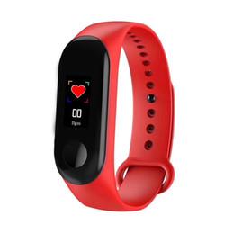 $enCountryForm.capitalKeyWord Australia - Color screen smart heart rate bracelet health smart watch bracelet information reminder Bluetooth LED display