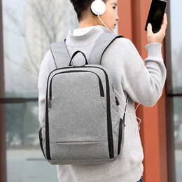 Backpacks For College Men Australia - USB Charging Men Backpack for Laptop 15.6 Inch Oxford College High Student SchoolBags Large Capacity Back Pack Male Bag Pack New