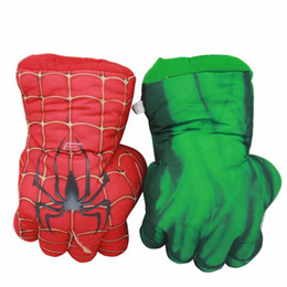 $enCountryForm.capitalKeyWord Australia - The Avengers Superhero Plush Hulk Gloves 25cm Soft Peluche Stuffed SpiderMan Figure Hulk Hands Anime Figurines Toys for Children