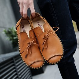 $enCountryForm.capitalKeyWord Australia - 2019 New Leather Loafers Men Casual Shoes Fashion Spring and Autumn Breathable Comfortbale Sneakers Men Flats Shoes Big Size