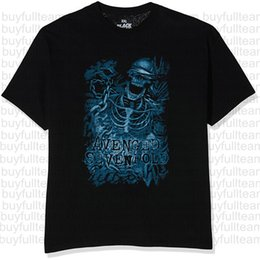 tops trading Australia - Rockoff Trade Homme's Avenged Sevenfold Chained Skeleton Mens Black Short Sleeves Tops Fashion Round Neck T Shirts Size S M L XL 2XL 3XL