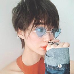 8033737c805 9 Styles Sunglass Women Fashion Unisex Sunglasses Korean Style Women Hollow  Triangle Frame PC Lens Frame Sun Glasses