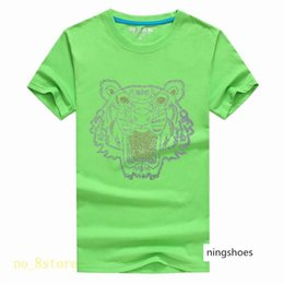 tiger tank t shirts NZ - Bright diamond Summer Designer T Shirts For Men Tops Tiger Head Letter Embroidery T Shirt Mens Clothing Brand Short Sleeve Tshirt Women A13A