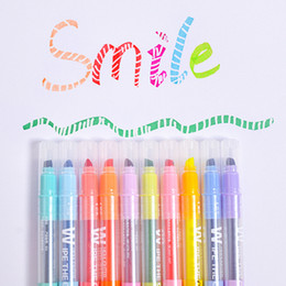 $enCountryForm.capitalKeyWord Australia - New Korean Magic Erasable Fluorescent Notes Pen DIY Colored Art Marker Pen Stationery Excellent Journal Supplies