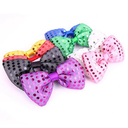 Glow Party Decorations Australia - Flashing LED Sequins Jazz Neck Bowties Woman Men Adult Performance Props Glow Party Christmas Decoration Bow Ties