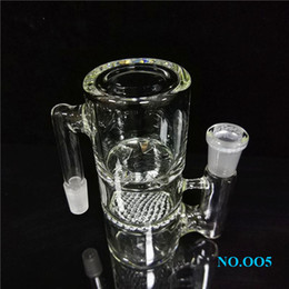 double percolator ash catcher Canada - Hot Sale Double Honeycombs Ash Catchers Percolator 14mm Male to Female For Water Bongs ee