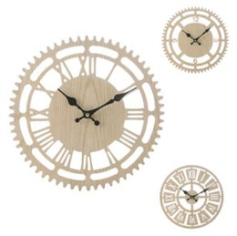 Discount walls watches - Wooden Roman Numeral Decorative Wall Clocks Creative Wood Bedroom Living Room Wall Clock Round Watch 33cm