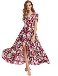 $enCountryForm.capitalKeyWord UK - Retro Ethnic Holiday Casual Sexy Skirt Boho Floral Sleeveless Midi Dresses Styles Women Print Summer V Neck