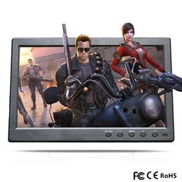 Tft Speakers NZ - 10.1 inch Portable TFT LCD HD Monitor Mini TV&Computer Display Screen 2 Channel Video Input Security Monitor HDMI VGA USB TV