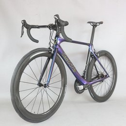 bike complete UK - 2020 new chameleon paint complete bicycle Carbon Fiber 700c road bicycle 20 Speed complete Bicicleta adopted SHIMAO brake-470