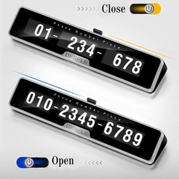 $enCountryForm.capitalKeyWord Australia - Car Phone Number Plate Temporary Parking card with Switch 3D Hidden Mobile Cell Phone Number Card Car Sticker Styling